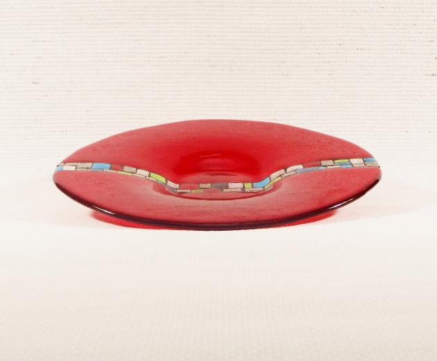 Glasschale Rot