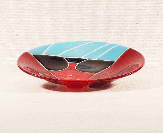 Glasschale Bunt