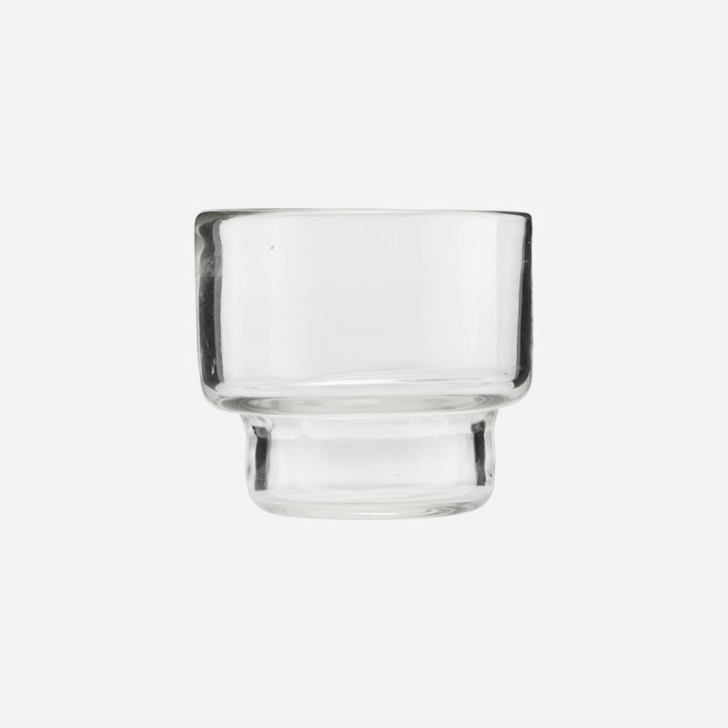 Kerzenhalter aus Glas, transparent blau/grün - 4 Stück